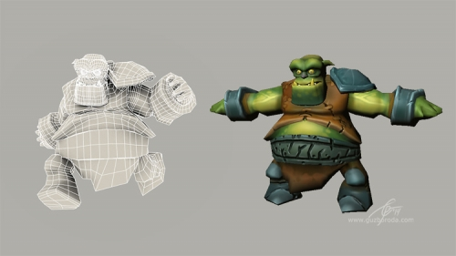 Lowpoly model of an Orc.