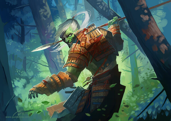 Forest fighter for Berserk CCG. © 2011 Fantasy World, Inc