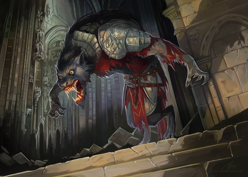 Werewolf for Berserk CCG. © 2011 Fantasy World, Inc