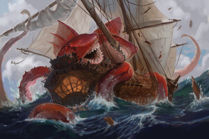 Sea monster attcack