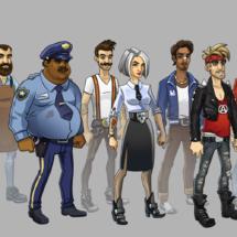NPC characters for KISS Rock City