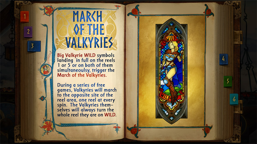 The rules design for Call of the Valkyries video slot game