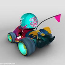 3D model of a kart