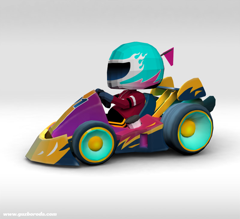 3D model for a kart racing game (loading might take some time)