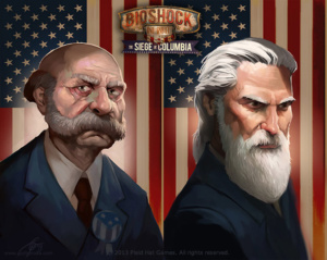 Characters for BioShock Infinite: The Siege of Columbia board game