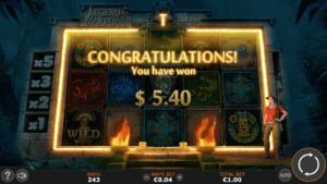 Game endscreen