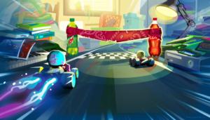 Racing kart game