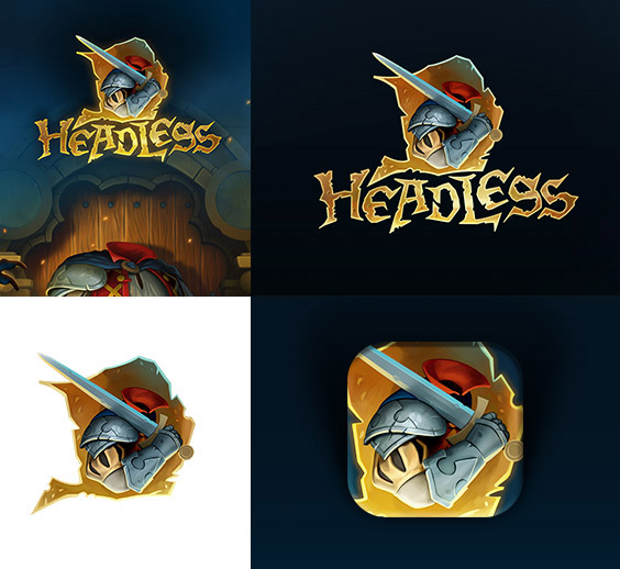 The logo for video game HeadlessD
