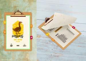 The Menu for Cafe/Bistro Mimi
