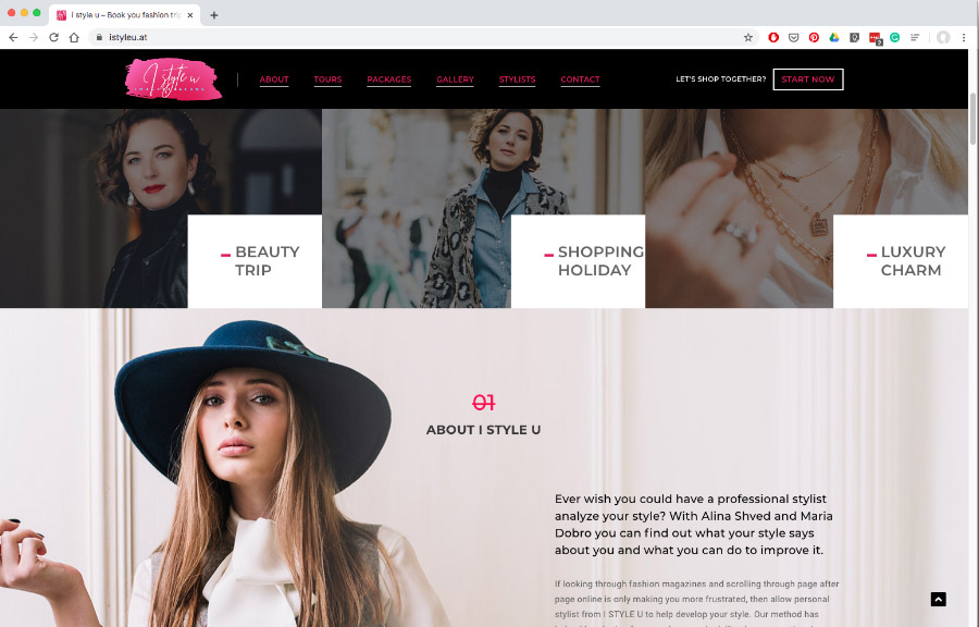 Website design for fashion company www.istyleu.at (loading might take time)