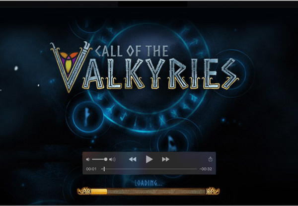 Logo design and motion design for video slot game Call of the Valkyries