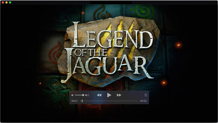 Logo design and motion design for Legend of the Jaguar video slot game